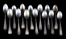 3 Sets of sterling silver demitasse spoons