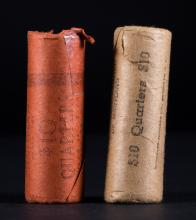[US] 2-1962 BU rolls Washington Quarters