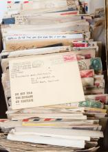 Large assortment of U.S. stamped covers