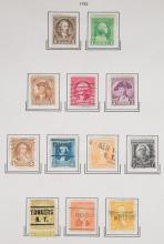 Collection of United States stamps, 1851-1938