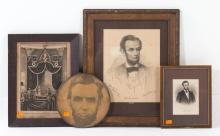 Four Lincoln-themed prints