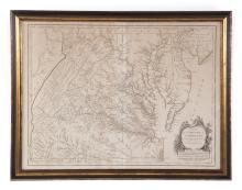 Map-Carte De La Virginia Et Du Maryland (1757)