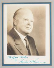 Photograph/Autograph President Herbert Hoover