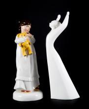 Two Royal Doulton china figures