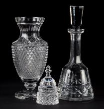 Three Waterford crystal articles