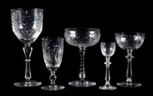 Continental etched glass stemware