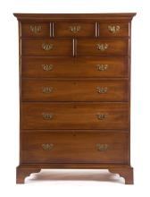 Chippendale mahogany tall chest