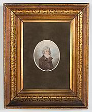 Adam Buck. Portrait of a Gentleman, watercolor