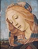 20th c. artist after Botticelli. Madonna, tempera, Sandro Botticelli, $100
