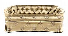 Contemporary button-back upholstered sofa