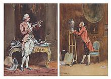 Alexander B. Simpson. Pair of watercolors