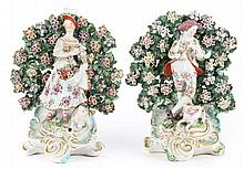 Pair of Staffordshire bocage figures