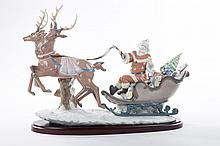 Lladro figural group: Up and Away