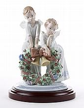 Lladro figural group: A Heavenly Christmas