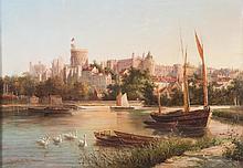 Robert W. Marshall. Windsor Castle, oil on canvas