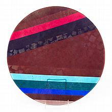Kurt McVay art glass charger