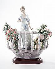 Lladro figural group: Far Away Thoughts