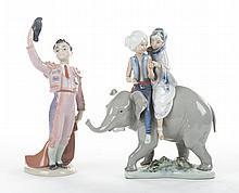 2 Lladro figures: Hindu Children & Little Matador