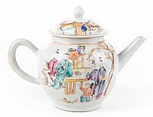 Chinese Export porcelain globular teapot