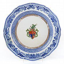 English Chinese Export style china plate