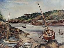 Selma L. Oppenheimer. Inlet Cove, oil on canvas