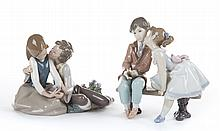 Two Lladro figural groups