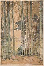 Hiroschi Yoshida. Bamboo Wood, woodblock