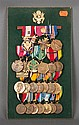 [United States] Display board with 24 medals