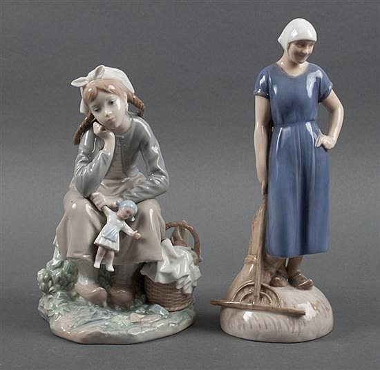 Lladro porcelain figural group: