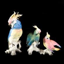 Two Karl Ens porcelain birds