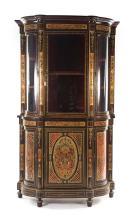 Louis XIV style faux Boulle & brass cabinet