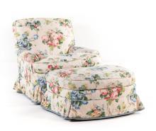 Brunschwig & Fils upholstered lounge chair