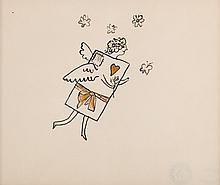 Andy Warhol. Flying Valentine , ink on paper