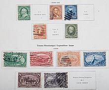 Collection of stamps of the world