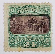 U.S. 24 c. green and violet, issue of 1869