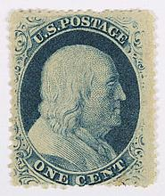 U.S. 1 c. blue, Type V, issue of 1857-'60