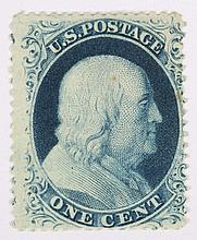 U.S. 1 c. blue, Type III, issue of 1857-'60