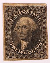 U.S. 12 c. black, issue of 1851-'57 (Scott #17)