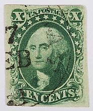 U.S. 10 c. green, Type IV, issue of 1851-'57