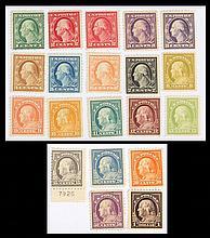 U.S. 1 c. through $1, regular issue of 1917-'19