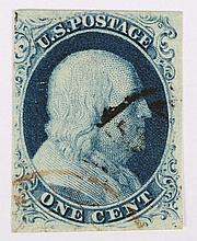 U.S. 1 c. blue, Type III, issue of 1851-'57