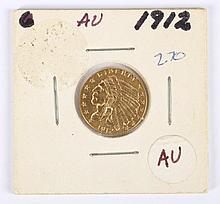 U.S. Indian Head gold quarter eagle ($2.50), 1912