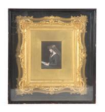 French enamel on copper portrait of beauty