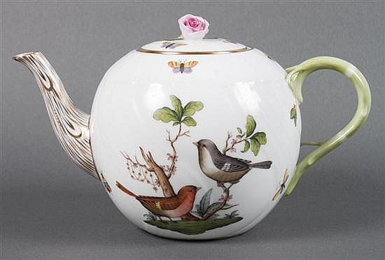 Herend porcelain bulbous teapot in the