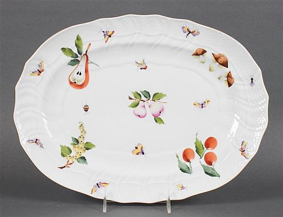 Herend porcelain platter in the
