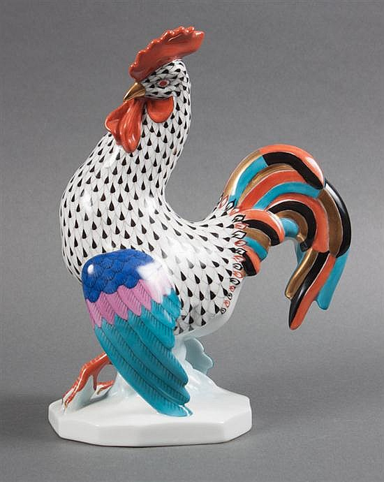 Herend porcelain rooster in the
