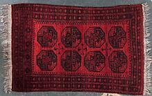 Semi-antique Afghan Bohkara rug, approx. 4.1 x 6.2