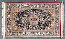 Very Fine Ispahan on silk rug, approx. 3.5 x 5.4