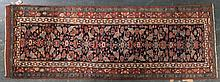 Antique Hamadan runner, approx. 3.5 x 9.8