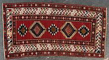 Antique Kazak rug, approx. 4.3 x 8.2